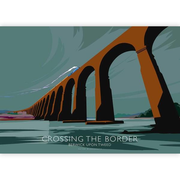 Mounted Print - Peter McDermott - Berwick-upon-Tweed, Crossing the Border