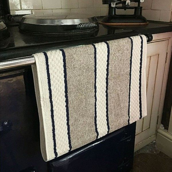 Roller Towel - Aga - Blue Stripe