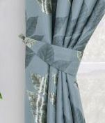 Curtains - Blakely - Blue - Tieback