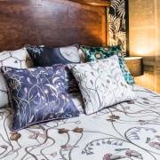 Cushion - The Wild Flower Garden Whisper White bedding close up cushion mix 2 LS